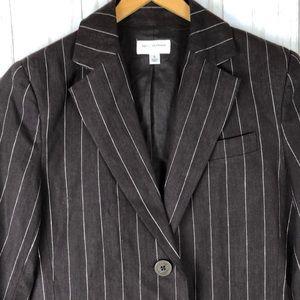 NWT Isaac Mizrahi Pinstripe Linen Suit Jacket
